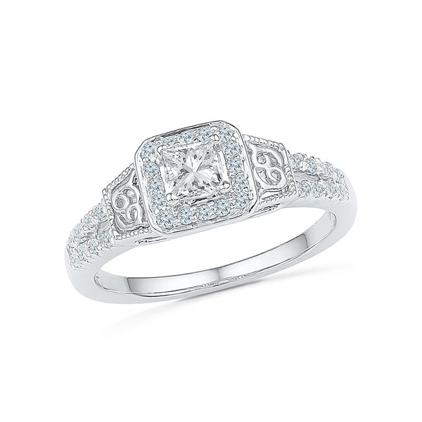 Big Bling Diamond Engagement Ring - Radiant Bay