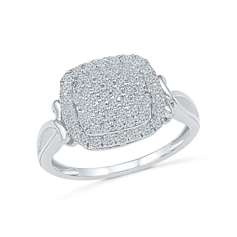 Bouquet of Bling Diamond Cocktail Ring - Radiant Bay