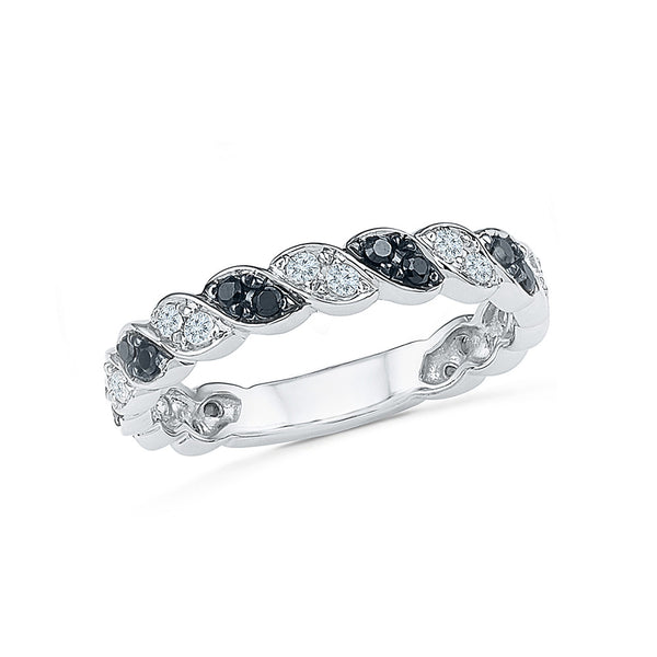 14kt / 18kt white and yellow gold ever favorite black and white diamond in PRONG for women online