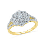 14kt / 18kt white and yellow gold Ethereal Diamond Cocktail Ring  in PRONG for women online