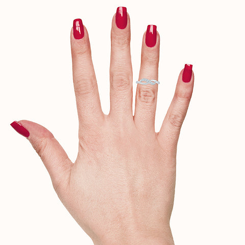 Lucky Curve Diamond Midi Ring