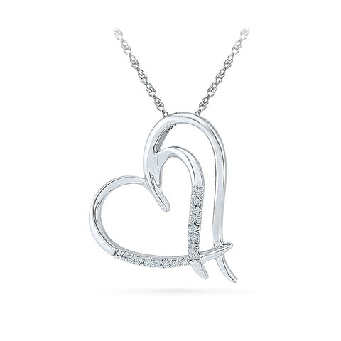 first anniversary gift diamond pendant in 14k and 18k Gold online for women
