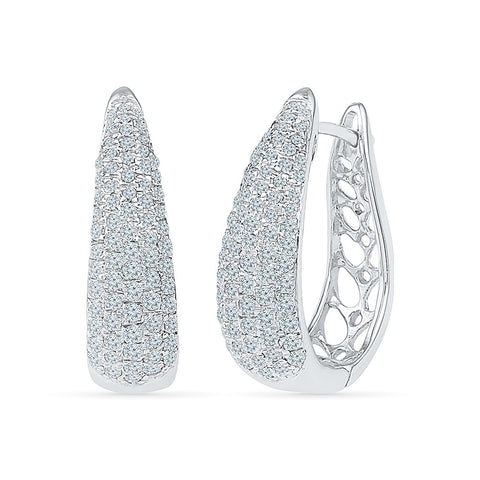Lavish Diamond Fiesta Hoops in 14k and 18k gold
