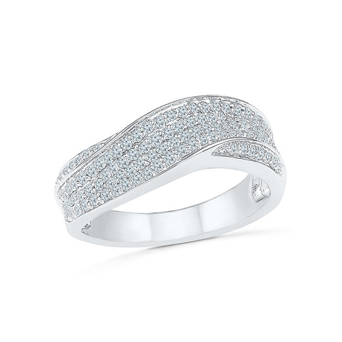 14kt / 18kt white and yellow gold Delux Diamond Wrap Cocktail Ring for women online in PRONG setting