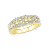 14kt / 18kt white and yellow gold Spring Forward Diamond Cocktail Ring for women online in PRONG setting