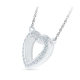 Ornamental Heart Diamond Necklace