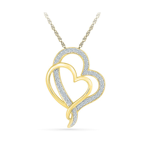 Best of Two Heart Pendant - Radiant Bay
