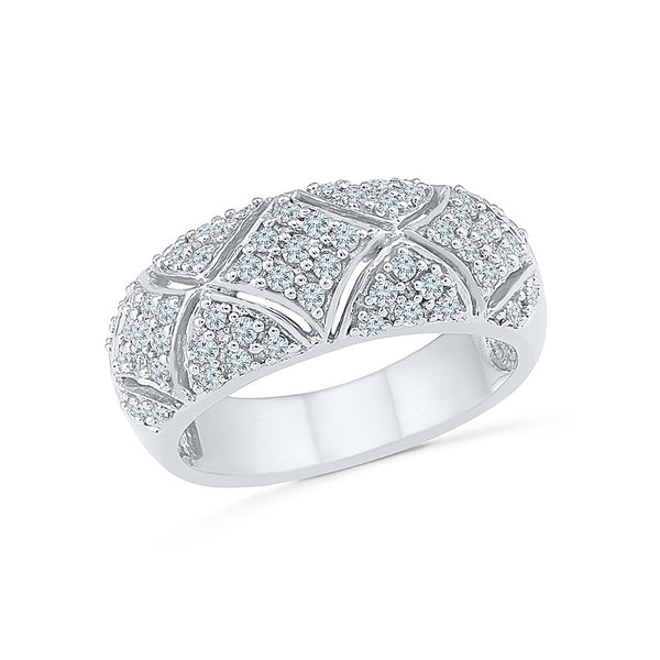 14kt / 18kt white and yellow gold Dazzle Me Diamond Cocktail Ring for women online in PRONG setting