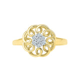 Floral Fusion Diamond Ring