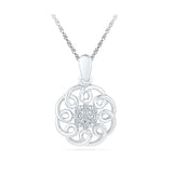 Superfect Floral Diamond Pendant in 14k and 18k Gold online for women