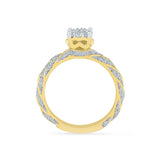 Bridal Bliss Diamond Engagement Ring - Radiant Bay
