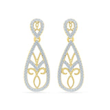 Fancy Drop Diamond Earrings
