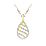 Lustrous Ethnic Diamond Pendant in 14k and 18k Gold online for women