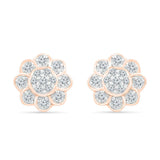 The Exquisite Floral Stud Earrings