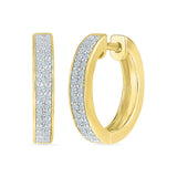 Majestic Elegance Diamond Hoop Earrings in 14k and 18k gold