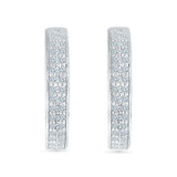 Majestic Elegance Diamond Hoop Earrings