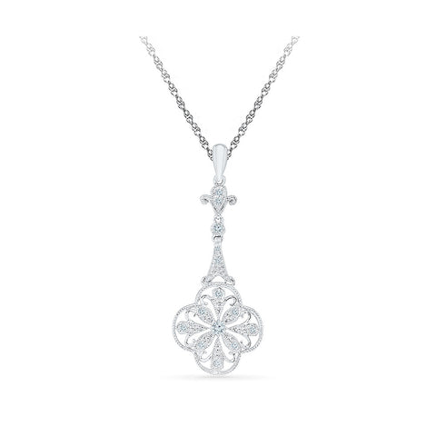Floral Splash Diamond Pendant in 14k and 18k Gold online for women