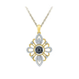 Queenly Black and White Diamond Pendant