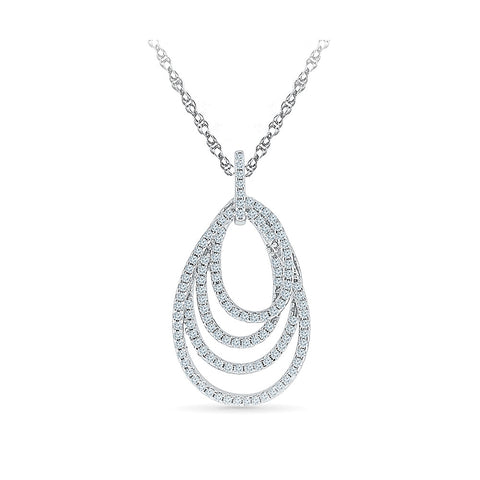 Layered Circle Diamond Pendant in 14k and 18k Gold online for women