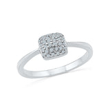 14kt / 18kt white and yellow gold tiny square  in Pave for women online