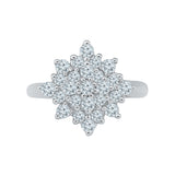Pretty Posy Diamond Cocktail Ring