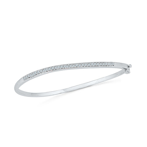 elegant diamond bangle for special occasion  in white and yellow gold