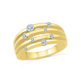 14kt / 18kt white and yellow gold Galaxy Glamour Diamond Cocktail Ring in Channel setting online for women