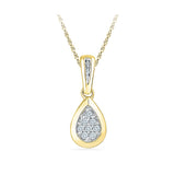 Beautiful Teardrop Diamond Pendant