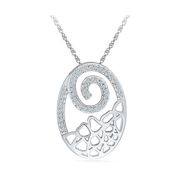 Deluxe Oval Diamond Pendant