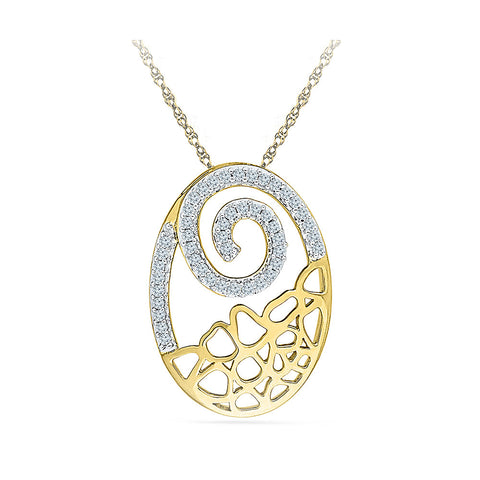 Deluxe Oval Diamond Pendant in 14k and 18k Gold online for women