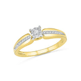 9/14/18 Carat White/Yellow/Rose Gold Engagement Band with Prong Set Diamonds for Women