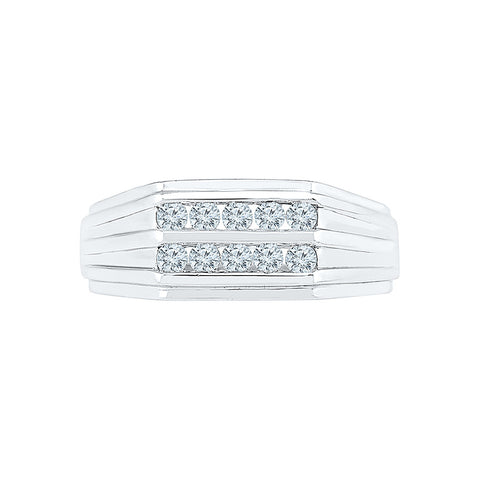 Groom Style Diamond Band