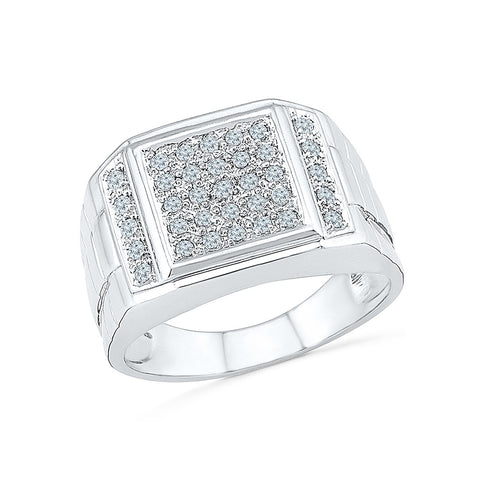 14kt / 18kt white and yellow gold Show Stopper Multi Diamond Ring for Men in PAVE for women online