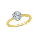 14kt /18kt white and yellow gold Teeny Floral Everyday Diamond Ring in Prong setting for women online
