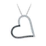 Precious Diamond Heart Pendant in 14k and 18k Gold online for women
