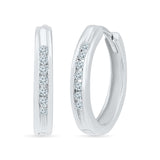 Royal Round Diamond Hoop Earrings