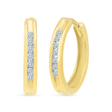 Royal Round Diamond Hoop Earrings in 14k and 18k gold