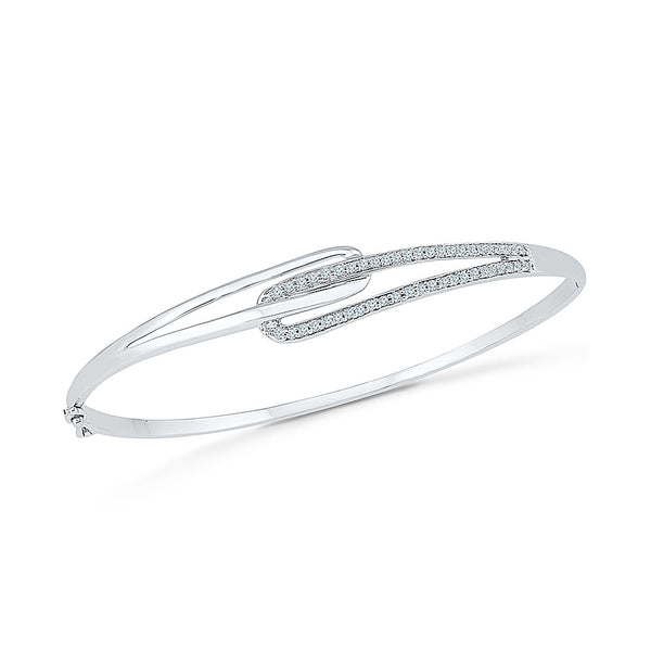 Buy gold fine diamond bangle for regular wear