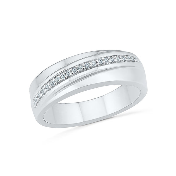 14kt / 18kt white and yellow gold Modish Everyday Diamond Ring For Men in PRONG setting online for men