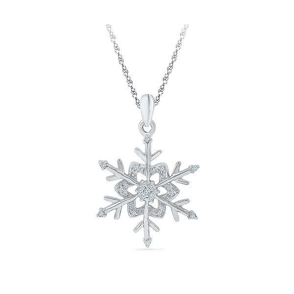 Fresh Flower Diamond Pendant