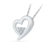 Diamond Triplicity Heart Pendant