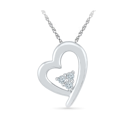 Diamond Triplicity Heart Pendant in 14k and 18k Gold online for women