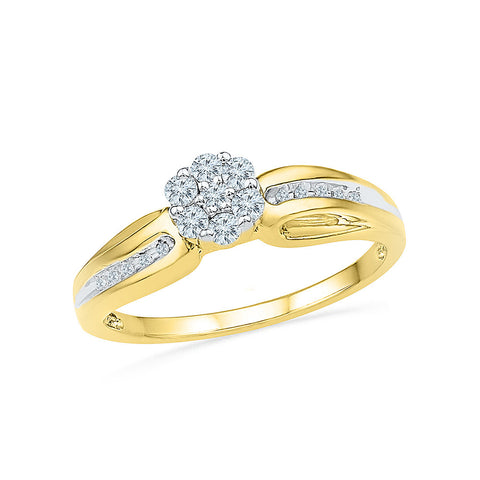 Flower Entice Diamond Engagement Ring