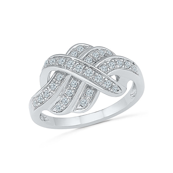 14kt / 18kt white and yellow gold Natty Diamond Hold Cocktail Ring in PAVE setting online for women