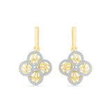 Classy Floral Drop Diamond Earrings
