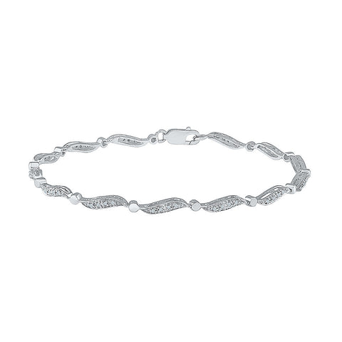 delicate diamond bracelet for young women  in white and yellow gold