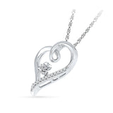 Pretty Posy Diamond Silver Pendant