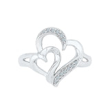 Passion Heart Design Silver Ring