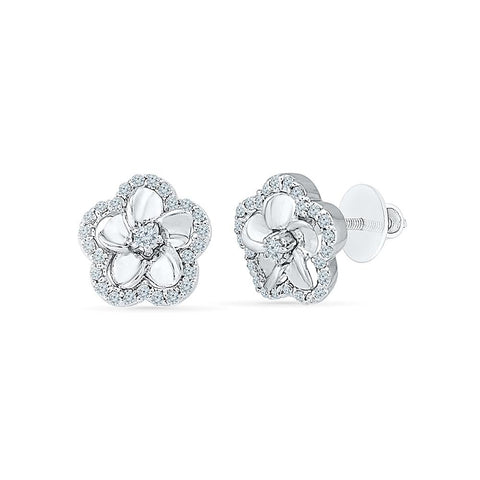 Enigma Diamond Studs in 92.5 Sterling Silver for women online