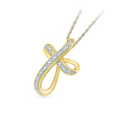 Ribbonry Cross Diamond Pendant